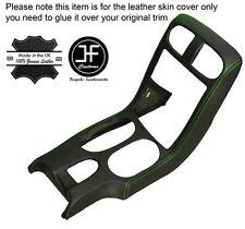 Green stitch console shift bezel surround couverture en cuir pour corvette C6 05-13