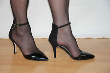 Original Buffalo Fesselriemchen Lack High Heels Pumps Stiletto Gr.39 Absat.10 cm
