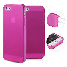 TPU Case iPhone 5 5S SE Hülle Silikon Cover Matt Clear Staubschutz Pink