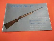 NORINCO JW 15 Bolt Action .22 Caliber Rifle Manual, 12 pages useful information