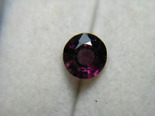 rare raspberry PURPLE Spinel gem Mogok Brma Natural untreated round Gemstone