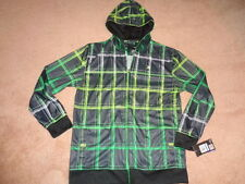 NWT Youth XL Hurley Full-Zip bBright Plaid Lightweight Hoodie. $39.50