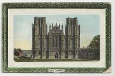 "Postcard, A & G Taylors ""Orthochrome""Series, Wells Cathedral"