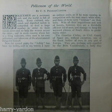 Policemen Police Forces of World Victorian Rare Old Antique 1897 Photo Article