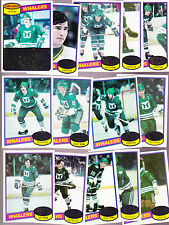 1980 / 81 Topps Hartford WHALERS Team SET lot of 14 NM+ FOTIU HOWE