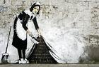 canvas BANKSY Graffiti Street Art Wall DecorA1 SIZE PRINT