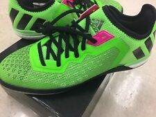 NIB ADIDAS MENS ACE 16.1 COURT AF4249 GREEN PINK BLACK INDOOR SOCCER SHOES 9