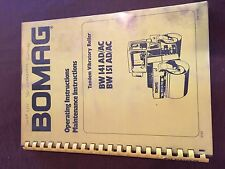 BOMAG BW 141 151 VIBRATORY COMPACTOR ROLLER OPERATING MANUAL MAINTENANCE