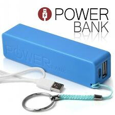 Batterie Power Bank Externe mobile 2600mAh Multimédia bleu pour Smartphone