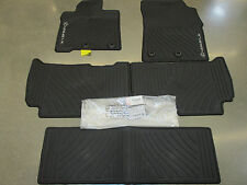 LEXUS OEM FACTORY ALL WEATHER 5-PIECE FLOOR MAT SET 2013-2016 LX570 BLACK