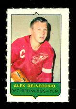 1969-70 OPC O-PEE-CHEE MINI 4 in1 ALEX DELVECCHIO RED WINGS EX-NM STAMP Sticker