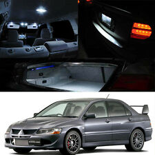 03-07 Mitsubishi Lancer Evo 8 9 Interior Xenon White LED Light Bulbs Package