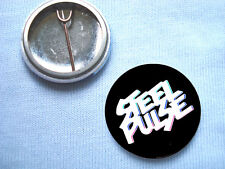 Steel Pulse 25mm  Badge Reggae The Wailers  Bob Marley Trojan Records