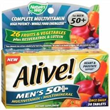 Alive! Nature's Way Once Daily Men's 50+ High Potency Multivitamin 50 ea (2pk)