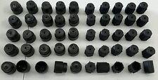 50 X AC Charging Port Service Caps R134a 13mm & 16mm LOT of 50 Pieces  A/C Black
