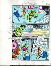 1 of a kind Original 1985 Marvel Comics Hulk color guide art page 8: Sal Buscema