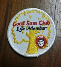 GOOD SAM CLUB LIFE MEMBER Iron or Sew-On Patch