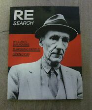 RE/SEARCH magazine #4/5 William S. Burroughs - Throbbing Gristle NF 1982 - 1st