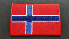 NATIONAL COUNTRY FLAG SEW ON / IRON ON PATCH:- NORWAY
