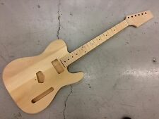 """NEW ELECTRIC T GUITAR BODY, SOLID BASSWOOD + 21F MAPLE NECK, 25.5""""  SCALE, No 54"""