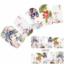 Tattoo Nail Art Aufkleber Japan Manga Geisha Water Decall Neu!