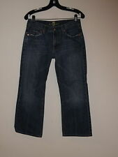 MEN'S 7 SEVEN FOR ALL MANKIND BOOTCUT COTTON CROPPED JEANS SIZE 30 HEMMED SHORT