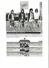 LED ZEPPELIN In Thru Out Door Japanese magazine ADVERT/CLIPPING 10x7 inches