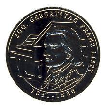 DEUTSCHLAND 10 Euro SILBER 2011 - Franz Liszt - GOLDAPPLIKATION (11599/1308N)
