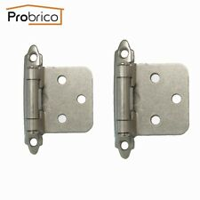 40PCS Kitchen Satin Nickel Cabinet/Cupboard Self Closing Door Hinges Hardware