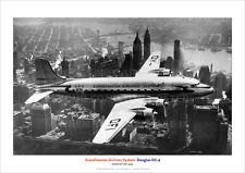SCANDINAVIAN AIRLINES SYSTEM DOUGLAS DC-4 A3 POSTER PRINT PICTURE PHOTO IMAGE