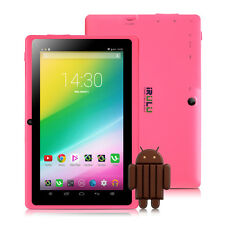 "iRULU eXpro X1 7"" 8GB Google Android 4.4 Quad Core & Camera WIFI Pink Tablet PC"