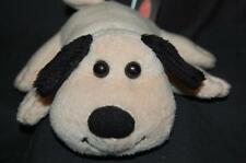 Melissa Doug Tan Black Ears Puppy Dog SANDY Green Collar Plush Stuffed Toy 6""