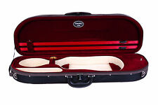 Brand New Tonareli  Burgundy Ultralight half moon 4/4 violin case