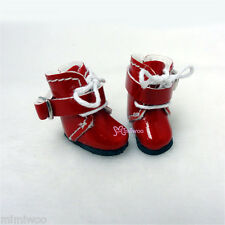 Middie Blythe Hujoo Baby BB Obitsu 11cm Body Bjd Doll Shoes Buckle Boots Red