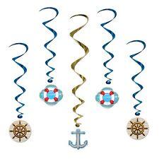 Navire de croisière tourbillons-pack de 5 nautiques décorations de fête-voile-nautisme