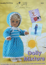 DOLLY MIXTURE DOLL & PREMATURE BABY KNITTING PATTERN BOOK (622) TEDDY YARNS