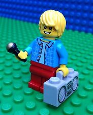 Lego City Town MUSICAL ARTIST Singer Rapper Microphone Radio Minifig Minifigure