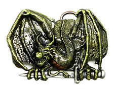 Dragon Belt Buckle Zarten With Sword Mythical Fantasy Animal Official Product