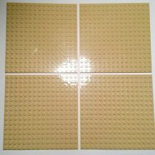 Lego Lot of 4 Plate 16x16 Tan Light Sand Color