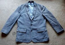 Cremieux Sahara WOOL Jacket Blazer Sport Coat Elbow Patches Pocket Square L 42