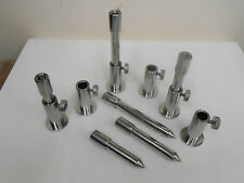 """6 x Stainless Steel Stage stands with locking nuts, with 3"""", 4"""", 5"""" inserts"""