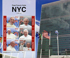 Guyana 2015 MNH Pope Francis Visits New York NYC 6v M/S Popes UN Gen Assembly