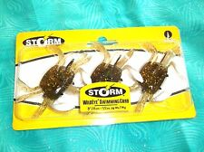 "NEW STORM 3"" 1/2oz WILDEYE LIVE SWIMMING FIDDLER CRAB SALTWATER FISHING LURE"