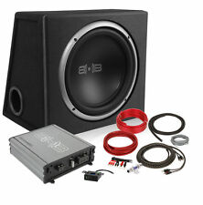 """Belva BPKG112v2 600W Complete Bass Package w/ 12"""" Sub in Ported Box w/ Amp & Kit"""