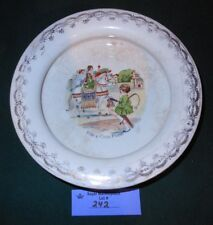 "Vintage McNicol stoneware PLATE Bowl ""Ride a Cock Horse"" rhyme"
