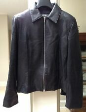 Women's Country Road Fitted Leather Jacket ~ Sz S ~ Front Zip ~ Lined ~ VGUC