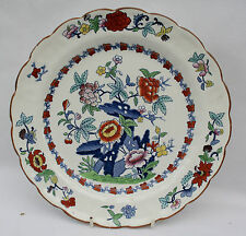 "Vintage Booths Silicon China Meat Plate 10.25"" Pompadour Pattern Number 8083"