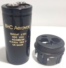 BHC AEROVOX ALS630A DC CAPACITOR 1500MF 450VDC WITH CAP