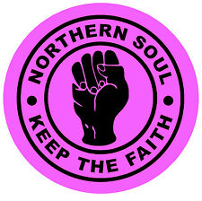 NORTHERN SOUL - KTF (PINK) - CAR / WINDOW INSIDE STICKER + 1 FREE - BRAND NEW