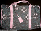PARFUMS GRES SPECIAL EDITION LADIES' PINK/BLUE/GREY LOGO WEEKENDER HOLDALL BAG